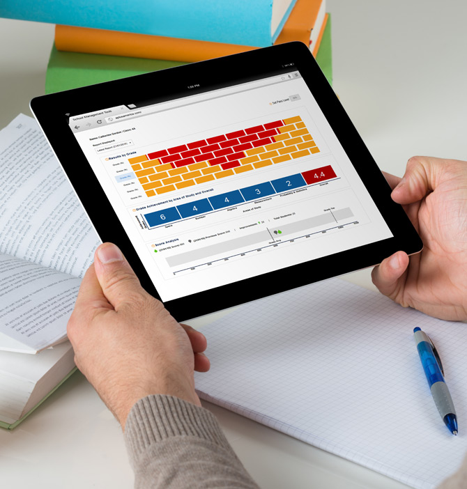 Image of education learning through tablet